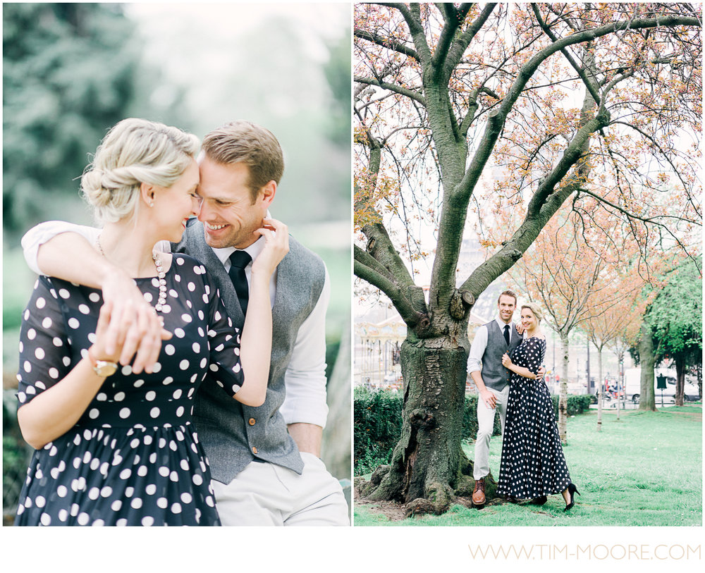 Paris Photographer - Our beautiful couple having fun during their paris photo session