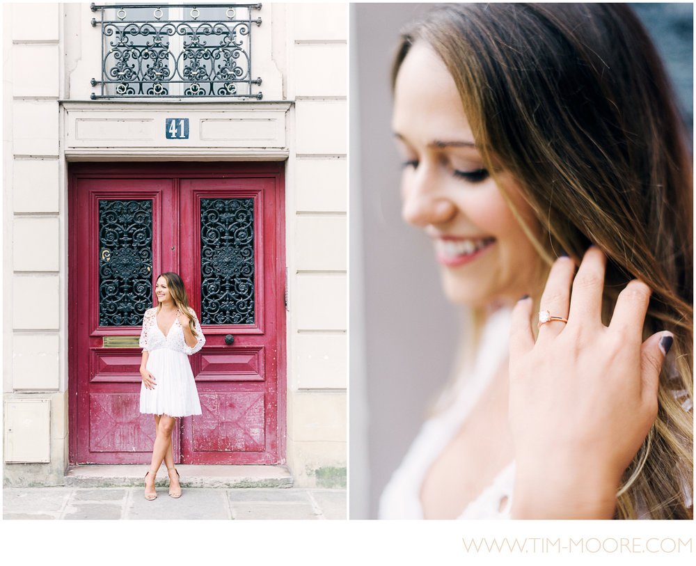 Paris Photographer - Engagement portrait in Paris for Anna during her Spring photo session