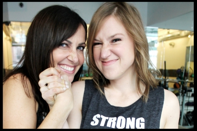 Uplift Co-founder Leanne with her wing-woman and VP, Britt Gage.