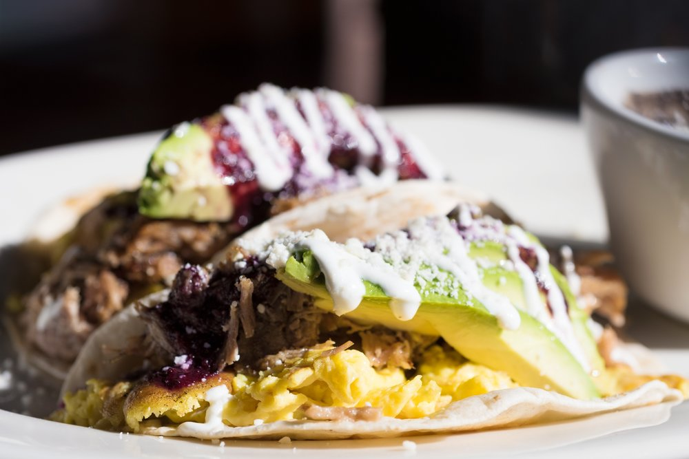 Breakfast Carnitas Tacos