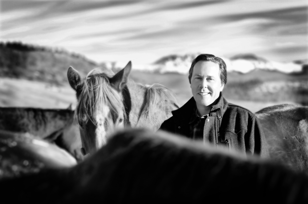 Brian with horses at his favorite ranch in Granby, Colorado U.S.A