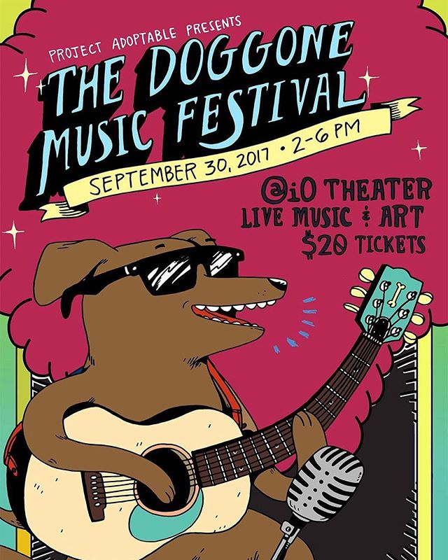 Save the date for The Doggone Music Festival! September 30th from 2-6pm, @iochicago  #chicagodog #dogsofchicago