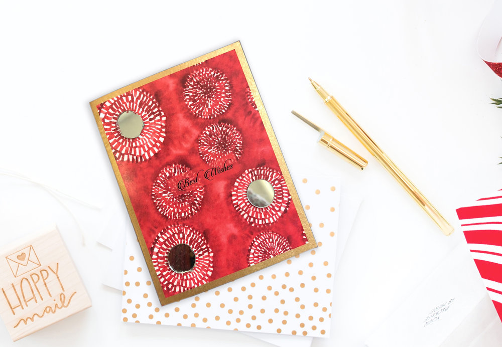 "Mirror mirror on the wall  Set of: 6 cards. Click to enlarge.  280 GSM TEXTURED PAPER  Size: 4.25"" (w) x 5.5""(h) Folded cards - blank inside   ₹ 450/-     BUY NOW"