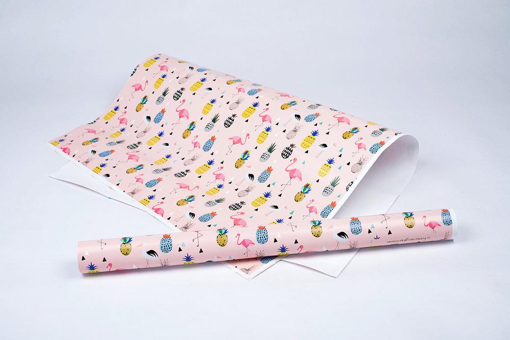 Flamingos Gift Paper.JPG