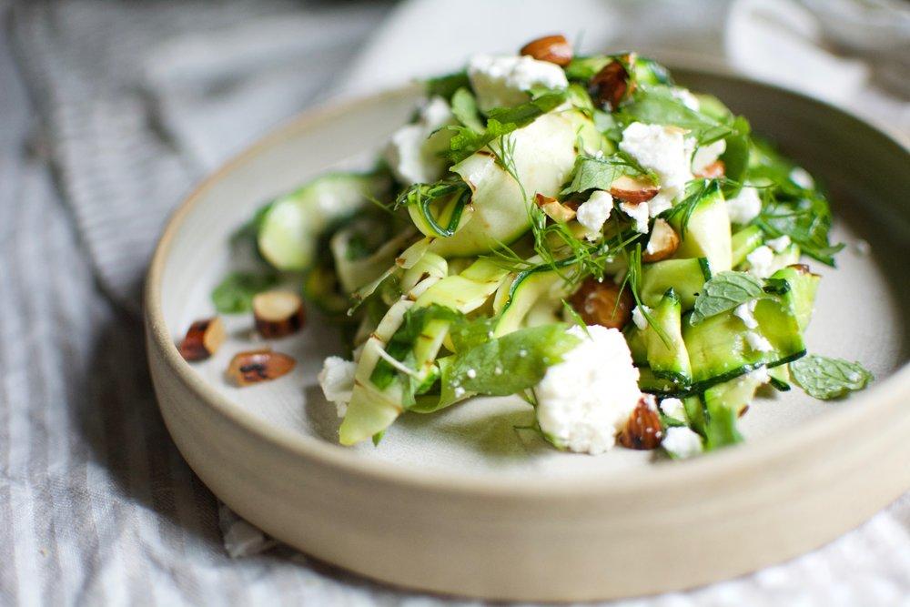 Grilled Zucchini Salad | Healthy Recipes | Olea of Monemvasia