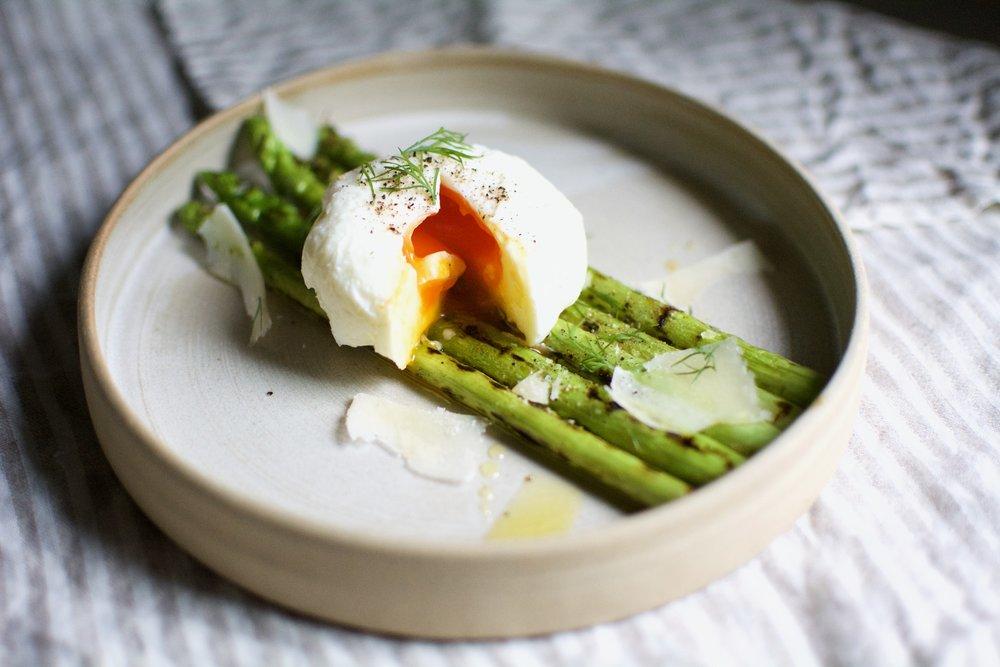 Asparagus & Poached Eggs | Healthy Recipe | Olea of Monemvasia