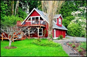Guest house and Garage with Water view home on Bainbridge Island    Washington