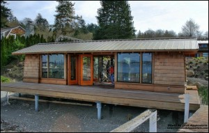 Renovated boat house on Bainbridge Waterfront