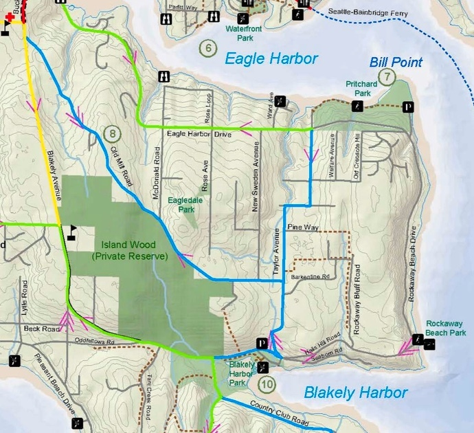 Port Blakely, Bill Poin, Eagledale Map