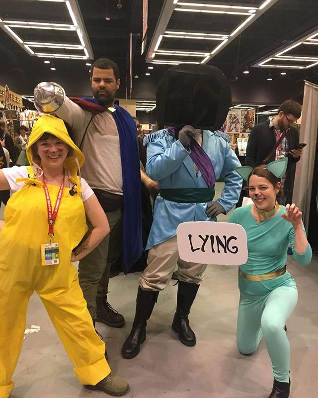 Emerald City Comic Con Day 3 - Saga -The Will, Lying Cat, Ghus & special appearance by Prince Robot! #eccc #eccc2019 #cosplay #saga #sagacomic #thewill #lyingcat #ghus #podcast