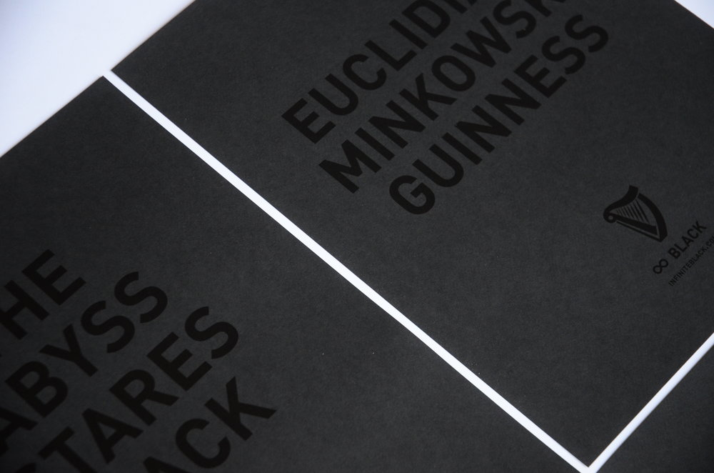 BLACK-ON-BLACK PRINT