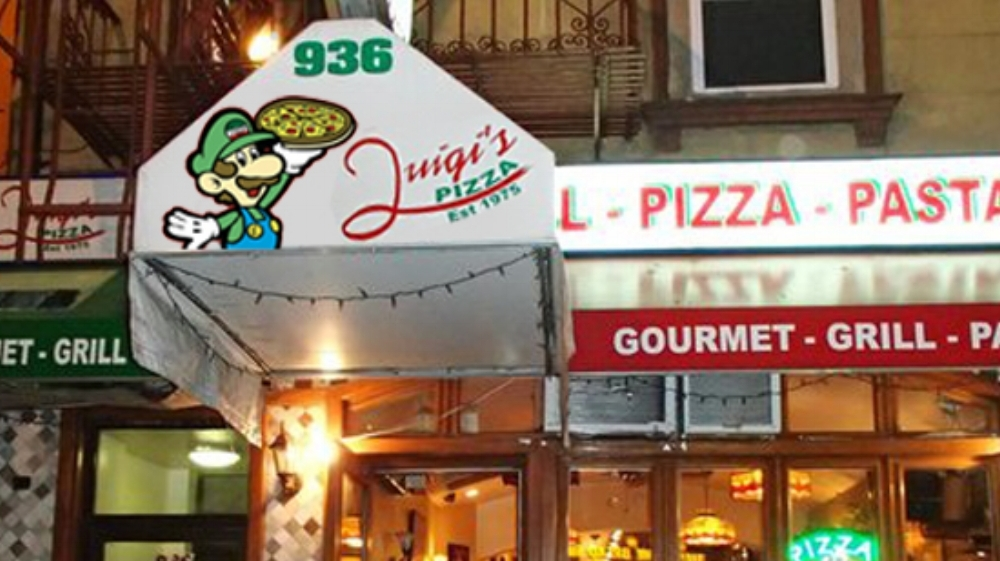 LUIGI TAKES OVER LUIGI'S PIZZA IN DOWNTOWN NY