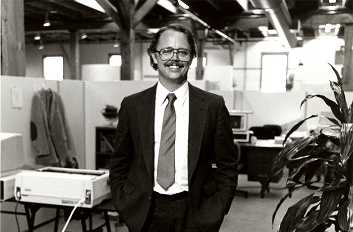 David Bunnell at  PC World 's offices in 1984