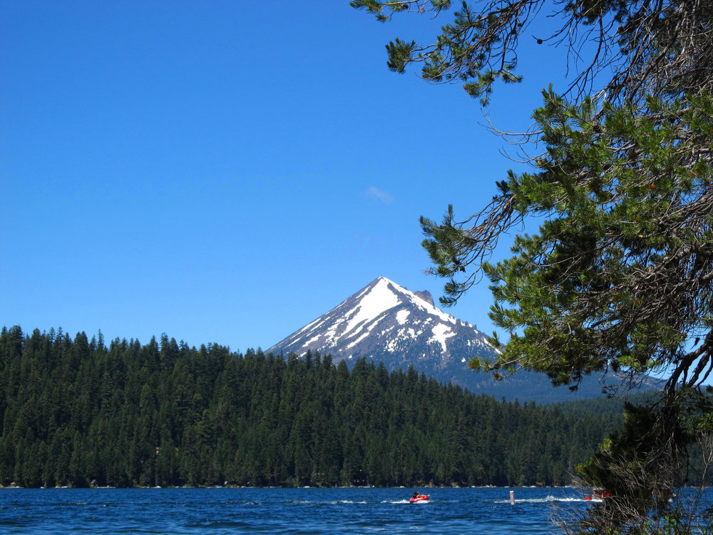 View of Mt. Mcloughlin from the shore of Lake of the Woods.