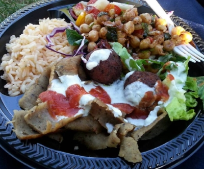 Falafel and Gyro Plate