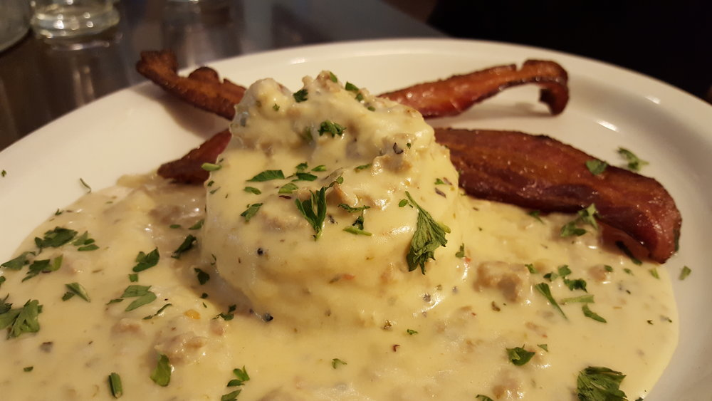Biscuits and Gravy at Wolf Creek Tavern