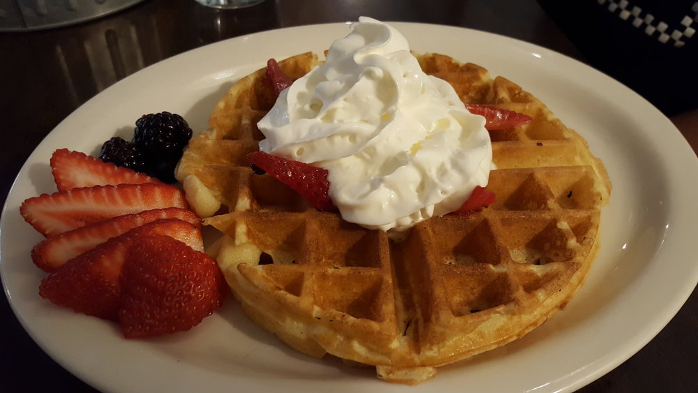 Waffles and Fruit at Wolf Creek Tavern