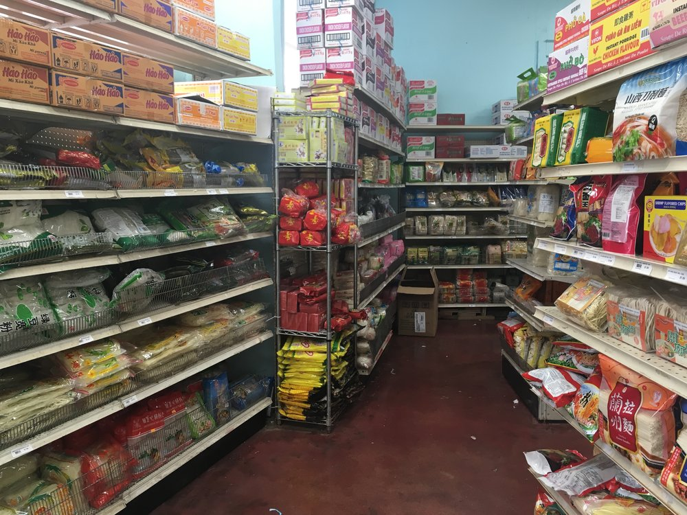 "Just one corner of the 4 aisle-wide ""Noodle Section""."