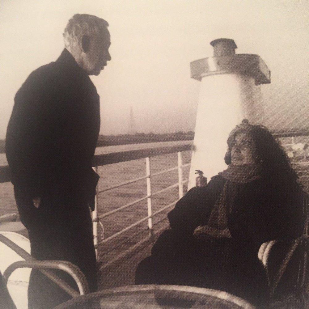 Howard Hodgkin with Susan Sontag.