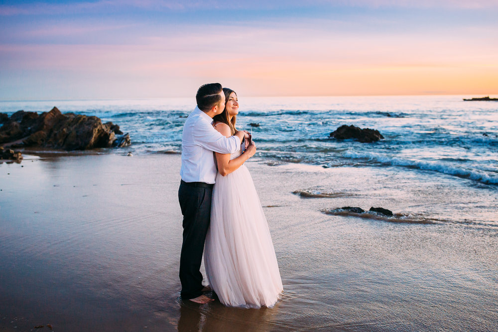 Newport beach sunset photo session in Orange County, CA