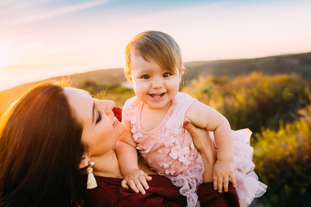family photoshoot in Laguna Beach Orange County California
