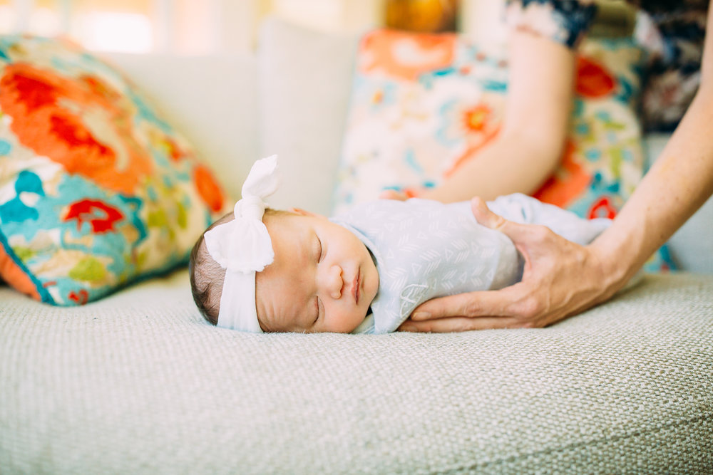 lifestyle newborn photo session in Orange County, CA
