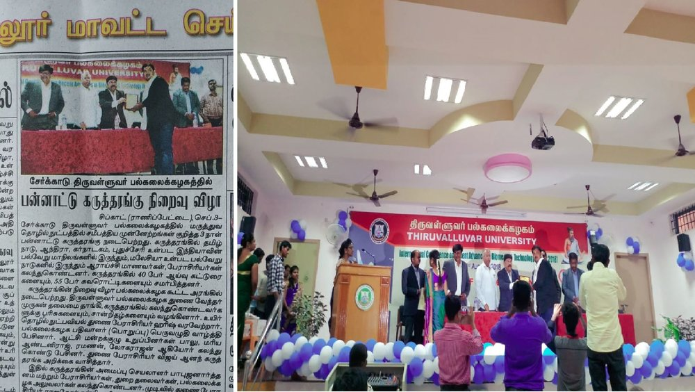 """- Chaired a SessionServed as a Judge for the scientific session (Oral /Poster) on of the International Conference entitled """"Recent Advances in Bio-Medical Technology (RABT-'18) by Department of Biotechnology, Thiruvalluvar University, Serkkadu, Vellore on 29th to 31st August , 2018."""