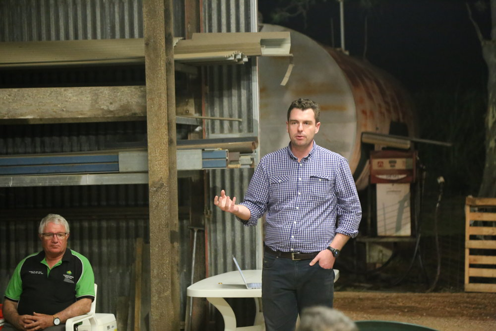 John Pickering addresses growers at the Project Cane Changer launch
