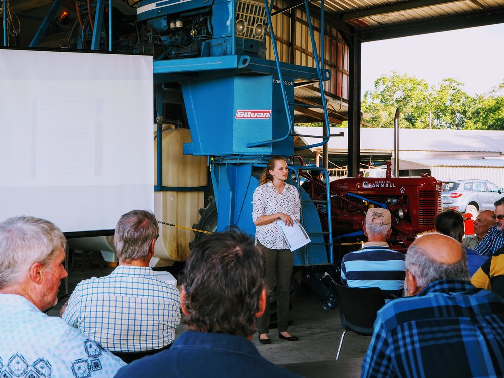 Cane Changer team member Toneya McIntosh during the recent session in Mossman.