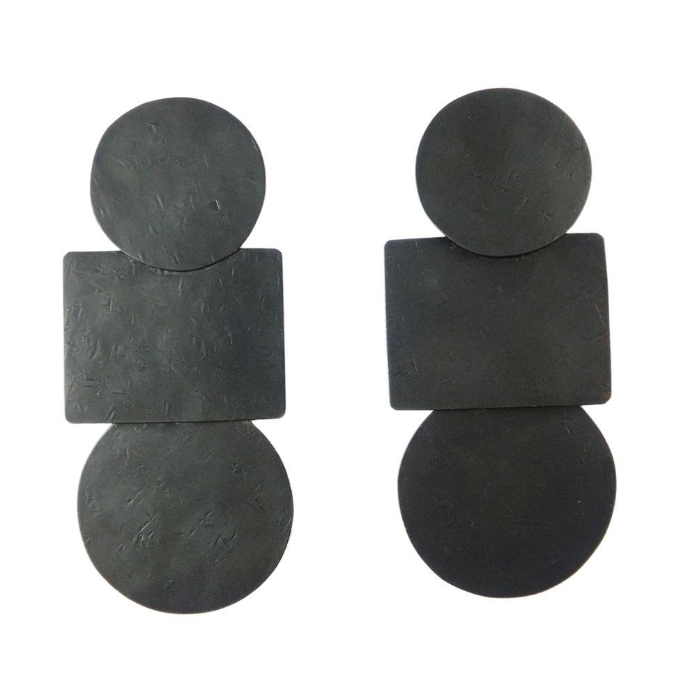 ANNIE COSTELLO BROWN |Popova earrings black - £170.83
