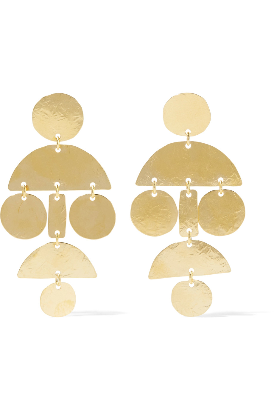 ANNIE COSTELLO BROWN | MINI POMPOM GOLD-PLATED EARRINGS - $275