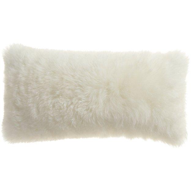"""23"""" x 11"""" Icelandic Shorn Sheepskin Pillow"""