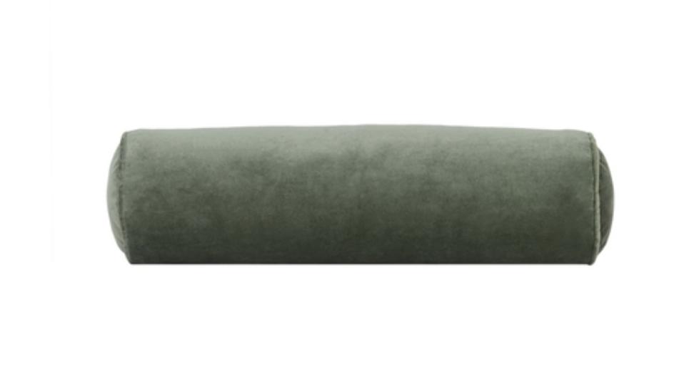 Velvet Moss Bolster Pillow