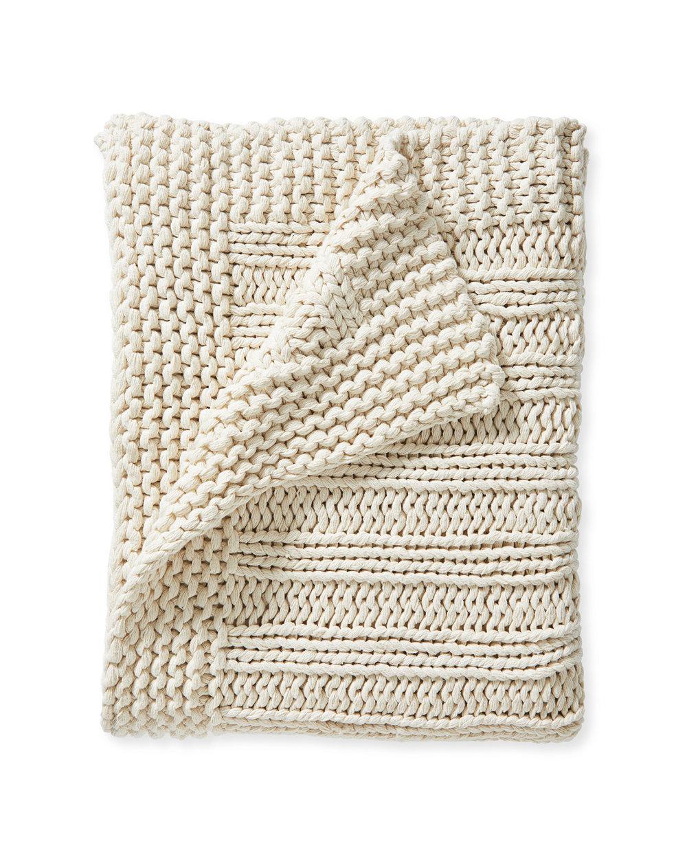 Sequoia Cotton Ivory Throw