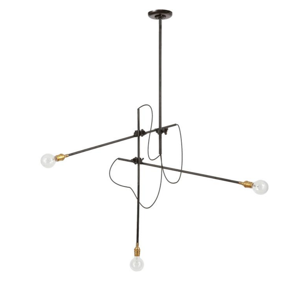 3 Arm Industrial Chandelier