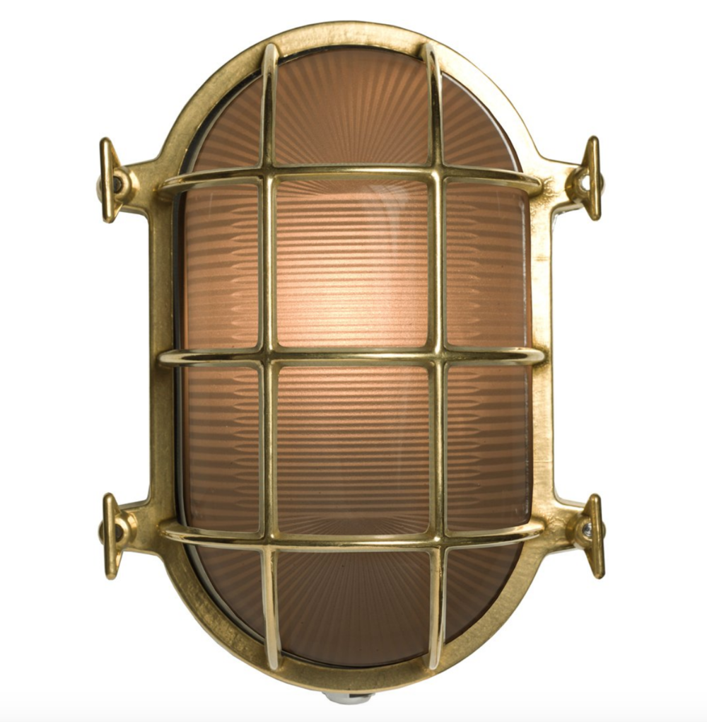 Oval Brass Bulkhead Light