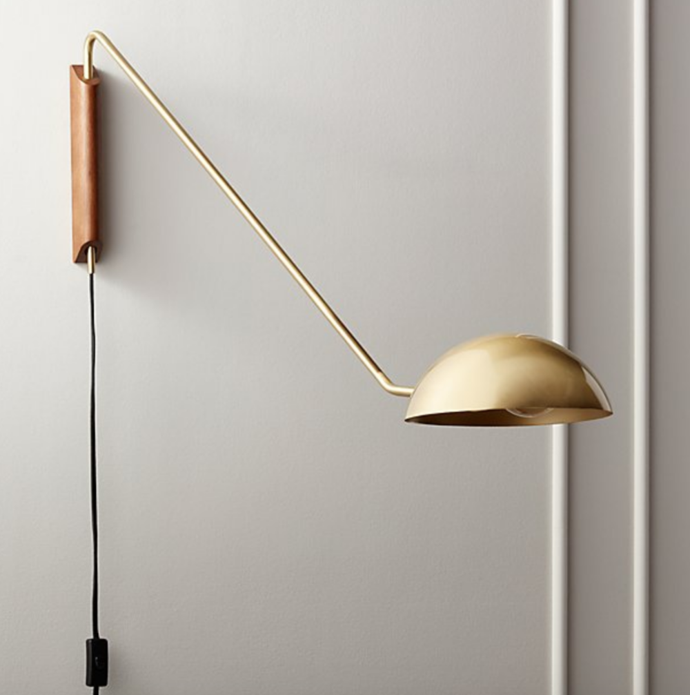 Mantis Swivel Brass Wall Sconce