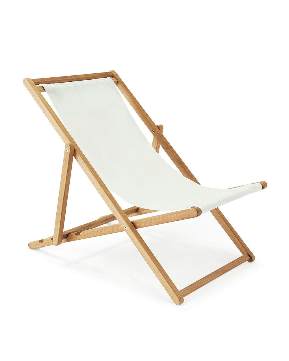 White Teak Sling Chair