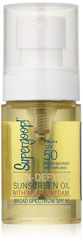 Sun-Defying Sunscreen Oil With Meadowfoam SPF 50