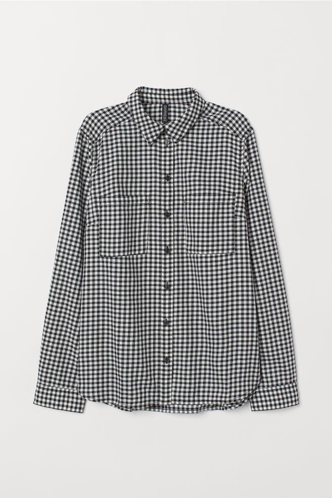 Black & White Checked Cotton Shirt