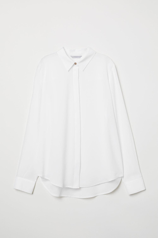 White Long-Sleeved Blouse