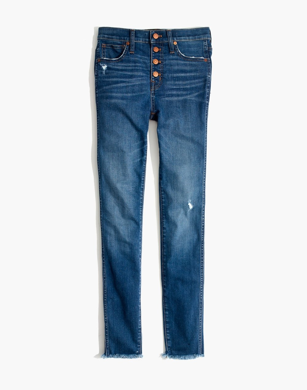 "10"" High-Rise Hanna Wash Skinny Jeans"