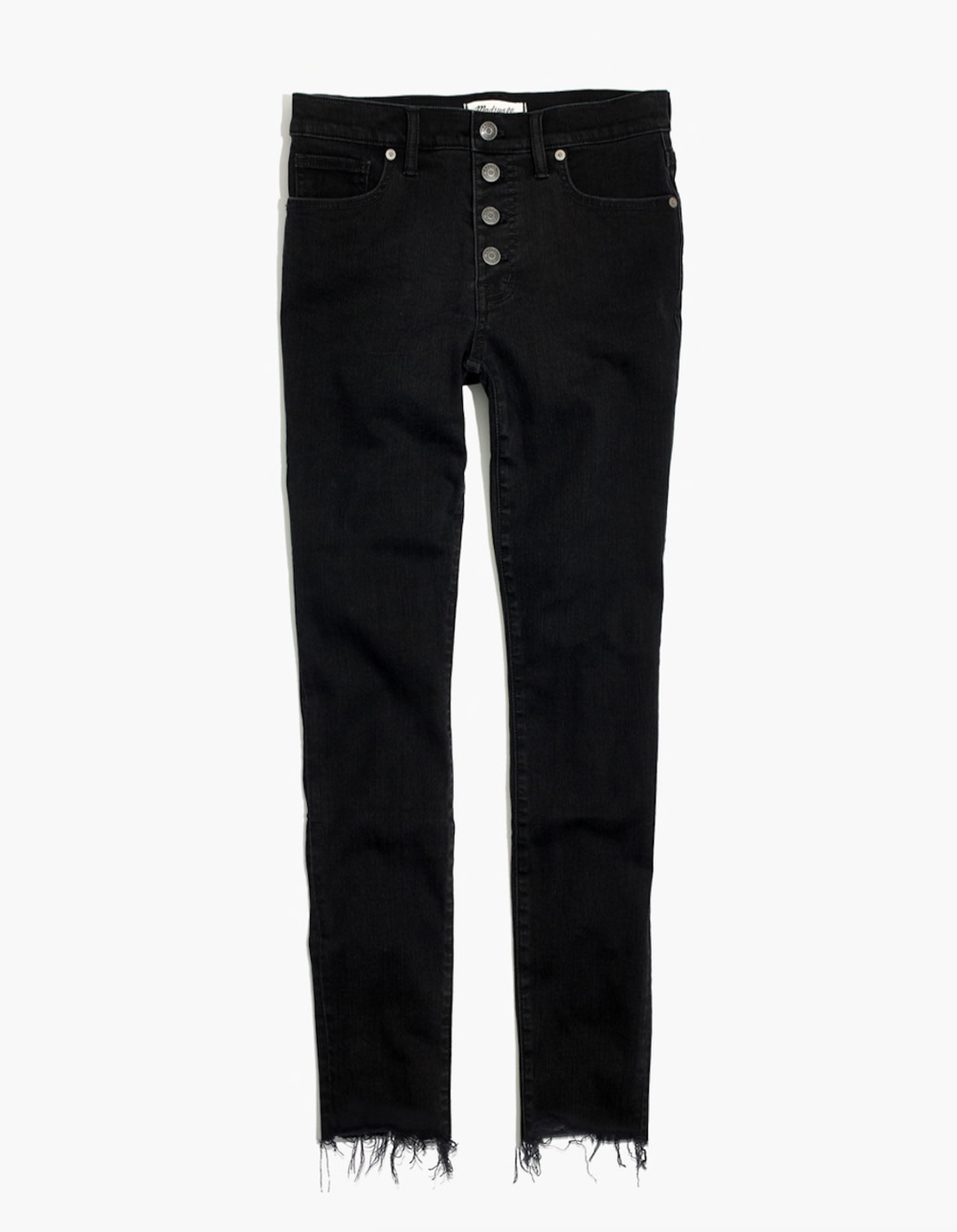 "9"" High-Rise Berkeley Black Skinny Jeans"