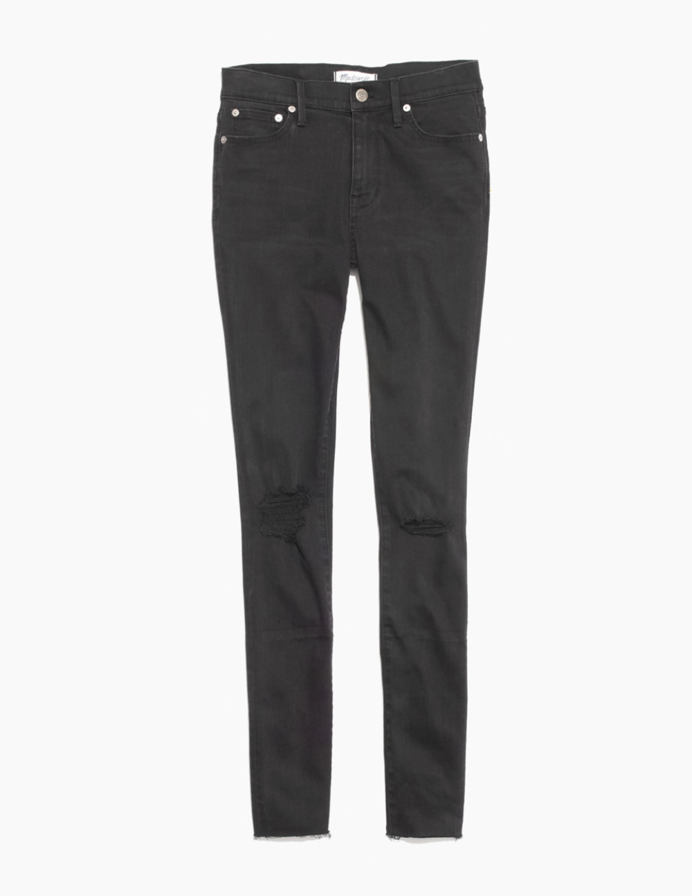 "9"" High-Rise Black Sea Skinny Jeans"