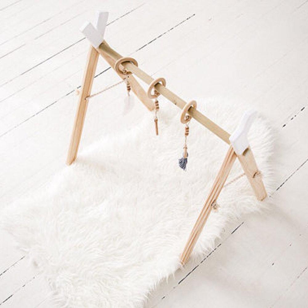 White Wooden Baby Gym