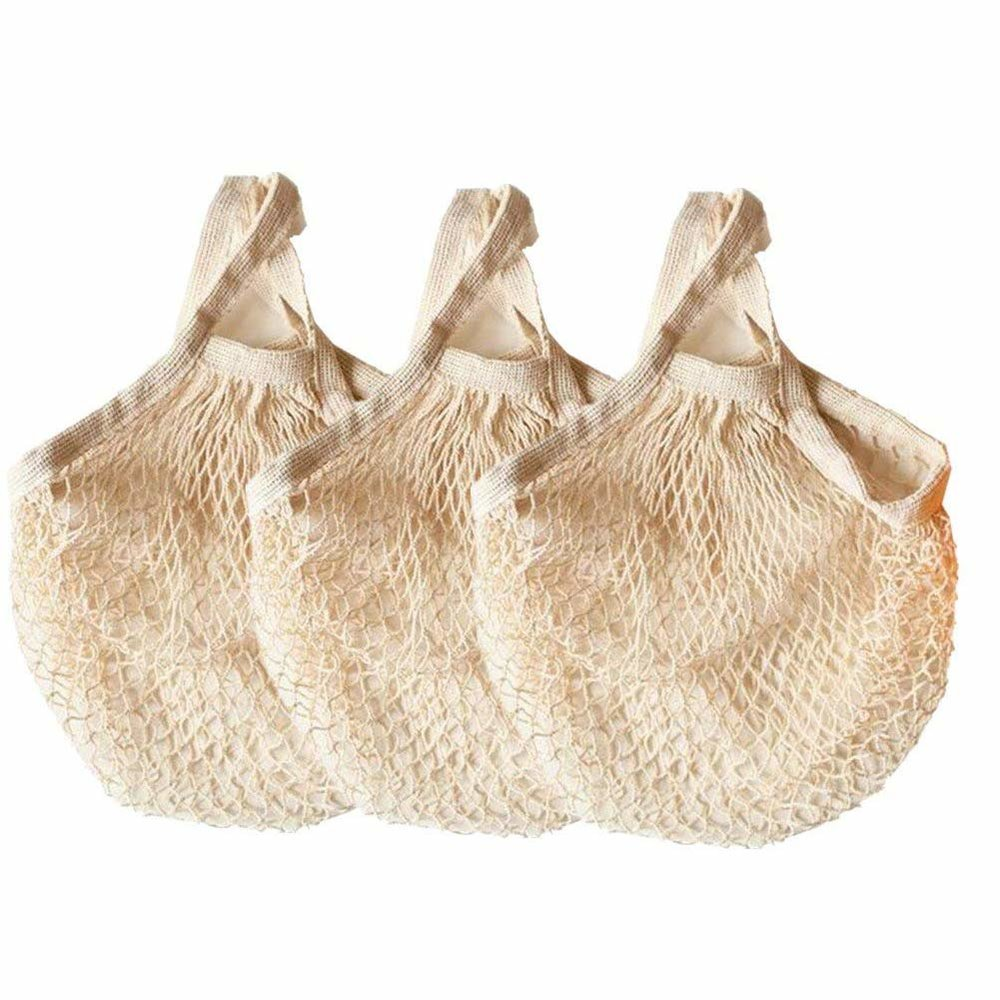 Reusable Cotton Mesh Grocery Bags
