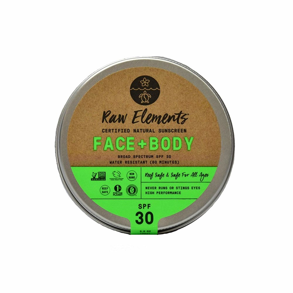 Organic Natural Sunscreen Face & Body Water Resistant SPF 30