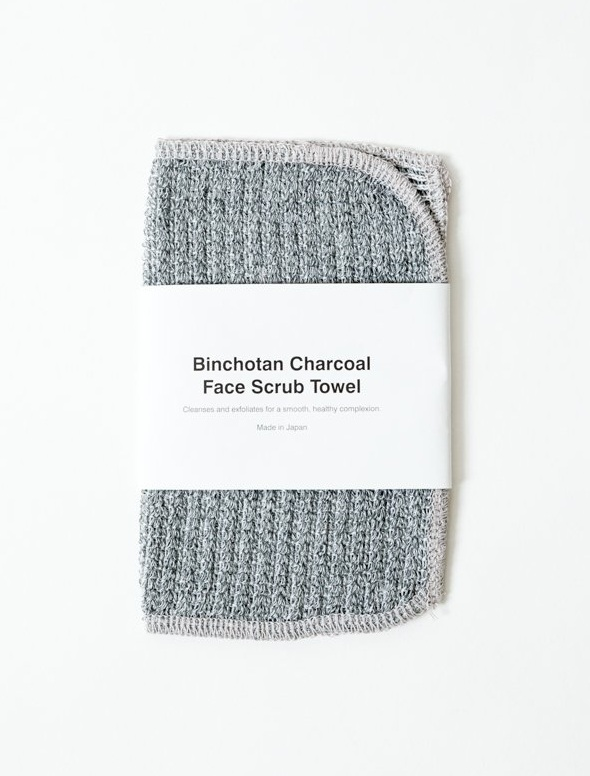 Binchotan Activated Charcoal Face Scrub Towel