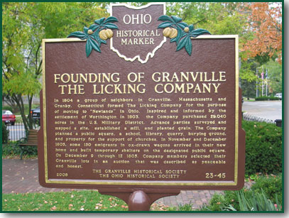 The Founding of Granville - The Licking Company