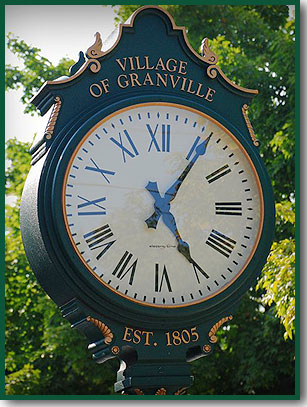 Granville Bicentennial Clock (Photo by jp-1@flickr.com, copyrighted)